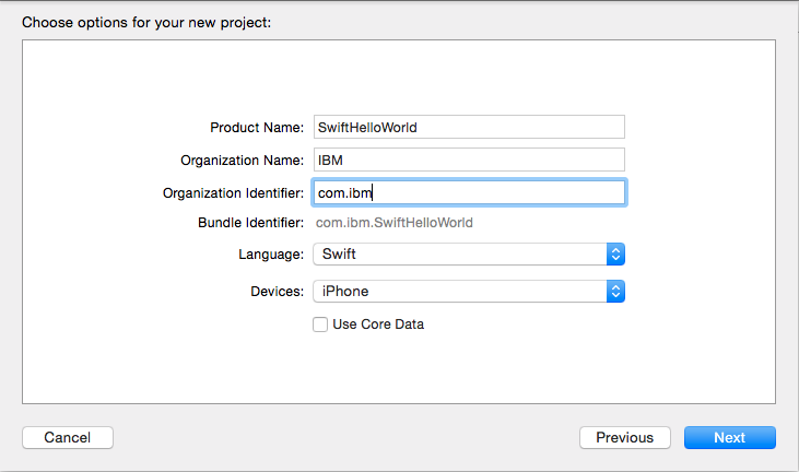 Configuring a native iOS application with the MobileFirst