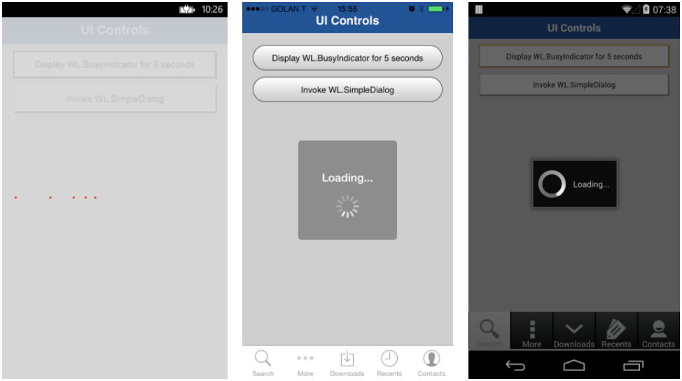 Common UI Controls - IBM Mobile Foundation Developer Center