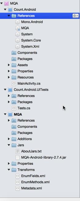 Integrating MQA into Xamarin Android app - IBM Mobile Foundation