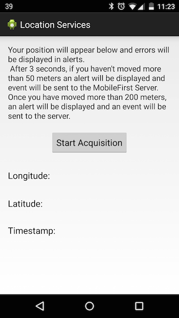 Location services in native Android applications - IBM