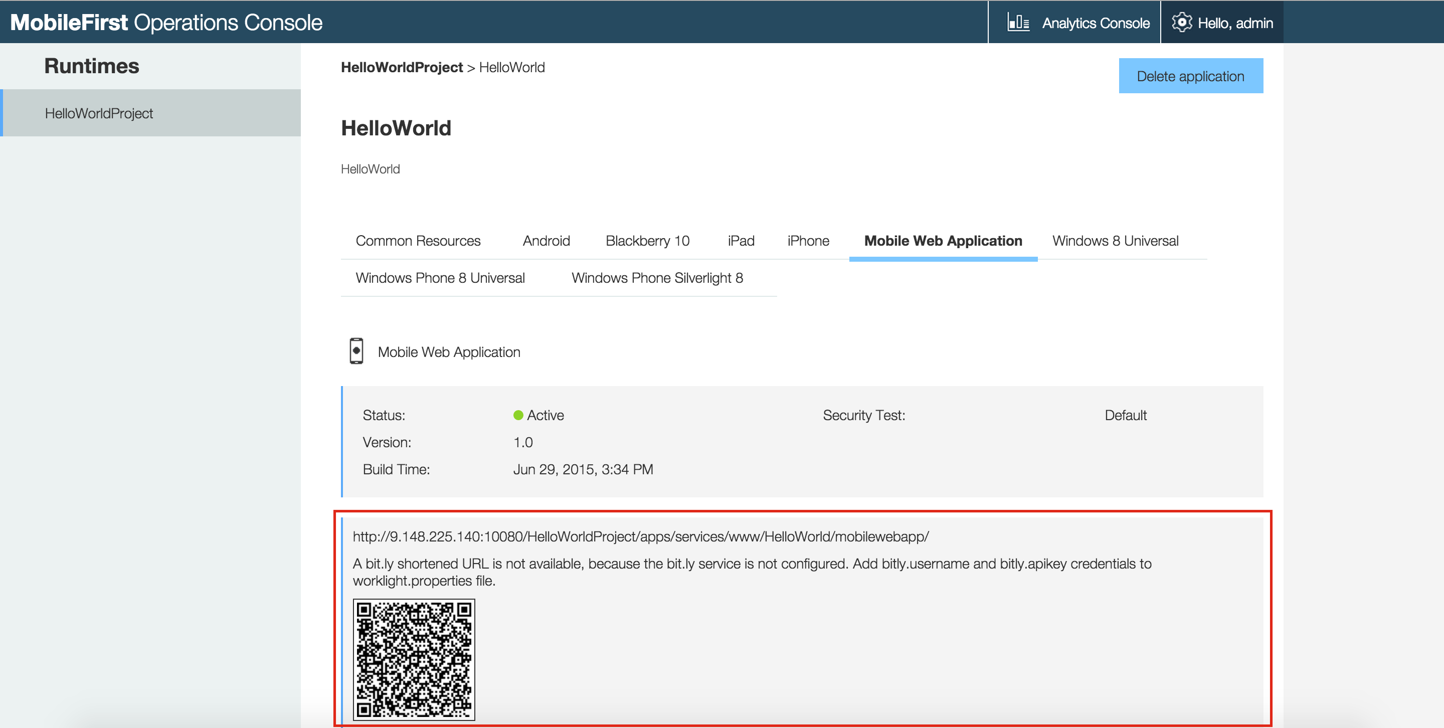 Previewing your Hybrid application - IBM Mobile Foundation Developer