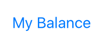 Image of Balance button in iPhone app