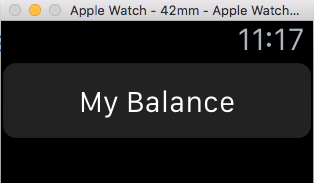 Image of Balance button in watch app