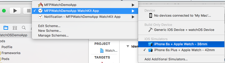 Image of how to run the project in Xcode
