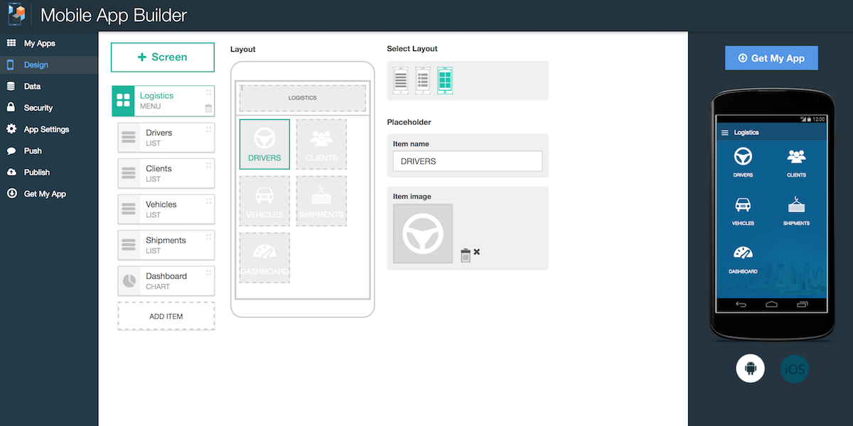 Mobile App Builder – new service now available - IBM Mobile