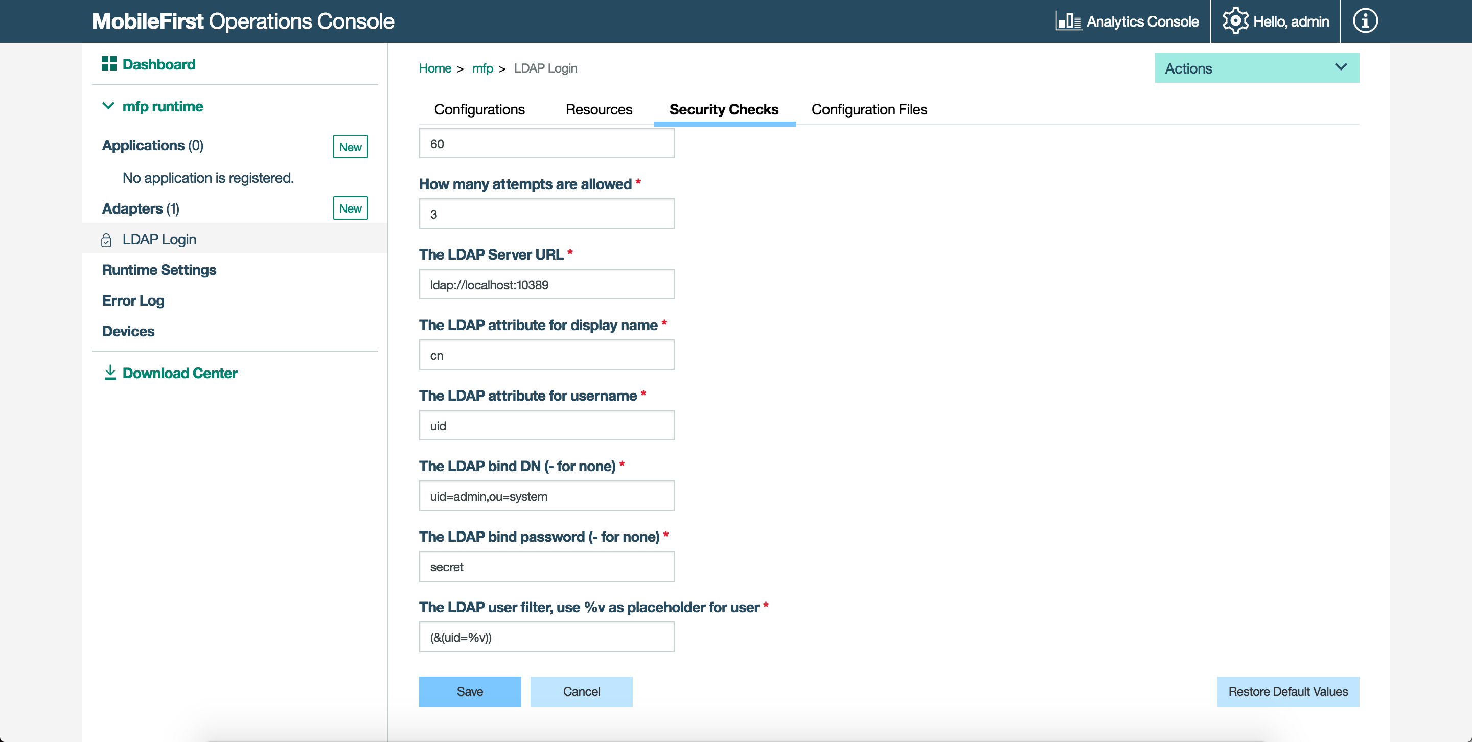 Connecting to LDAP servers with IBM MobileFirst Foundation 8 0 - IBM