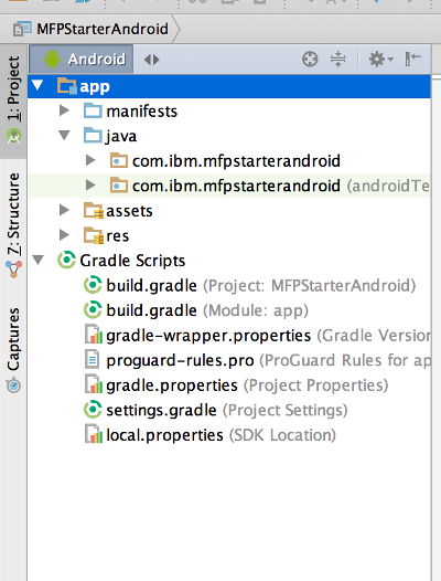 Android Studio Structure