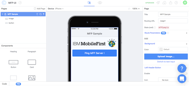 Rapidly develop MobileFirst apps using Ionic Creator - IBM Mobile