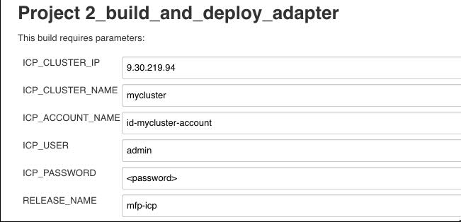 Build And Deploy Adapter Job Parameters