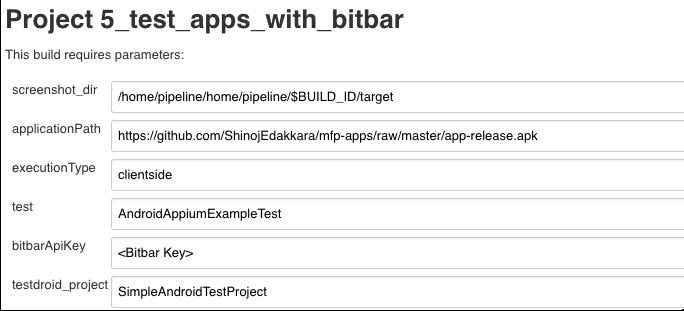 Test App With Bitbar Job Parameters