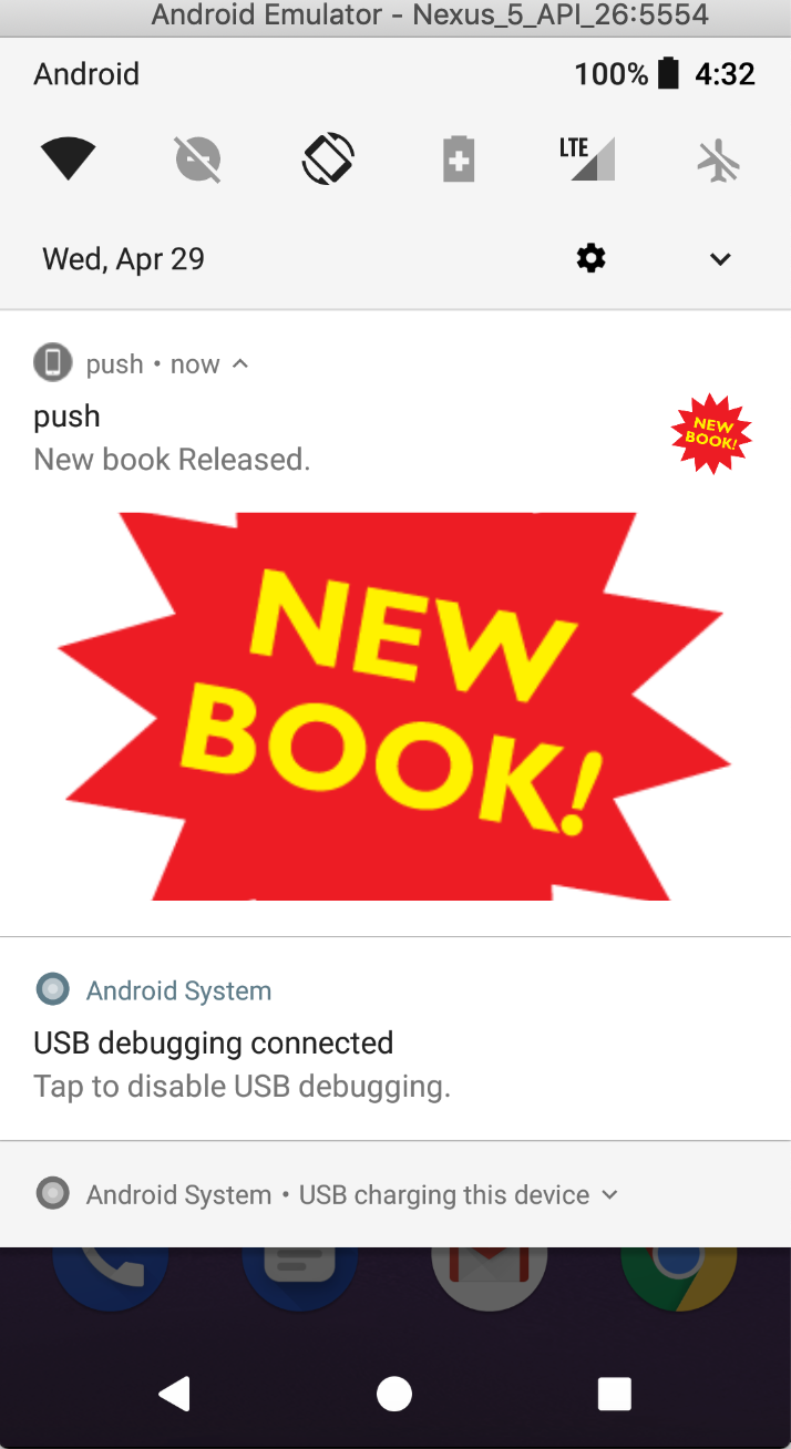 Notifications android emulator push How to