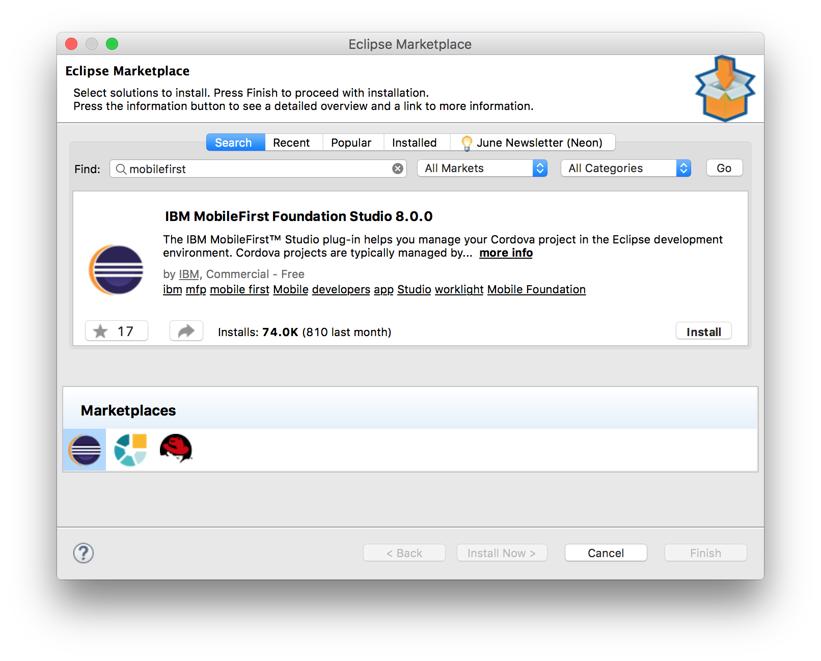 Using the MobileFirst CLI in Eclipse - IBM Mobile Foundation