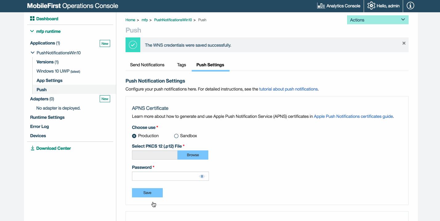 Sending Notifications - IBM Mobile Foundation Developer Center
