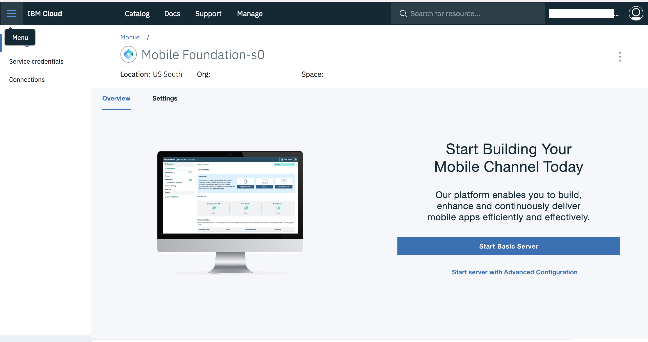 Using Mobile Foundation service on IBM Cloud - IBM Mobile