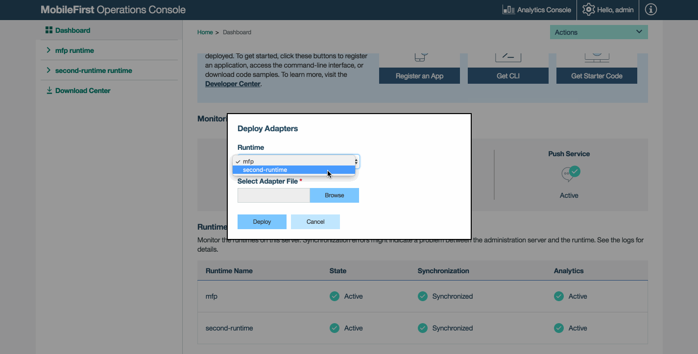 Configuring MobileFirst Server - IBM Mobile Foundation