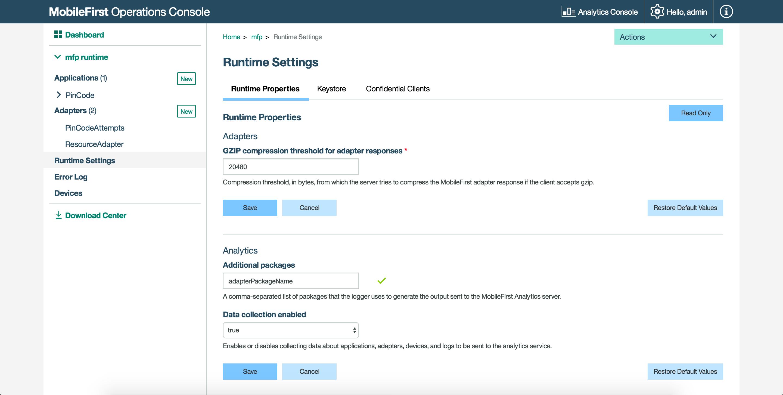 Logging in Java Adapters - IBM Mobile Foundation Developer