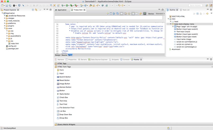 Developing UI for Cordova Applications - IBM Mobile