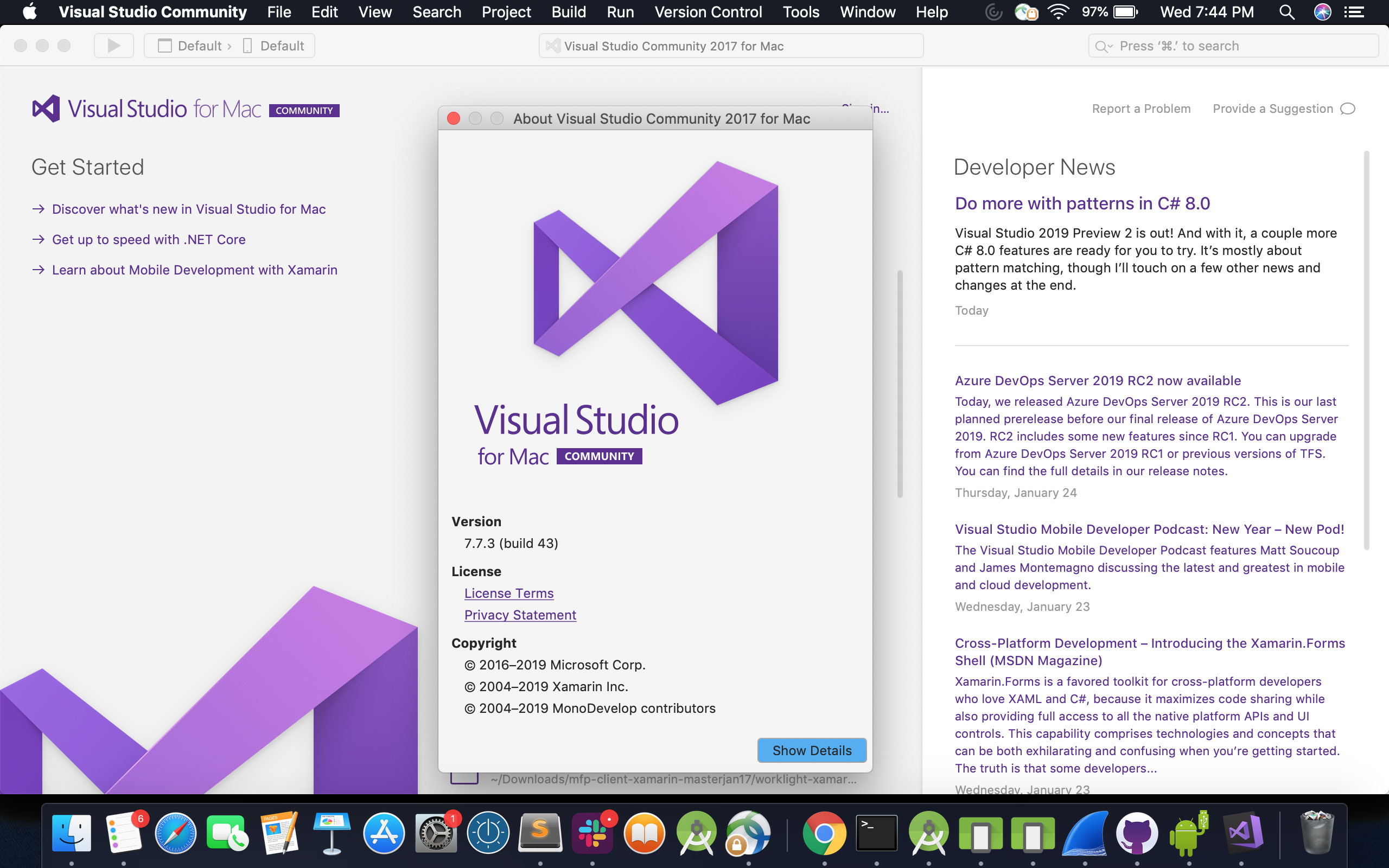 Xamarin download file