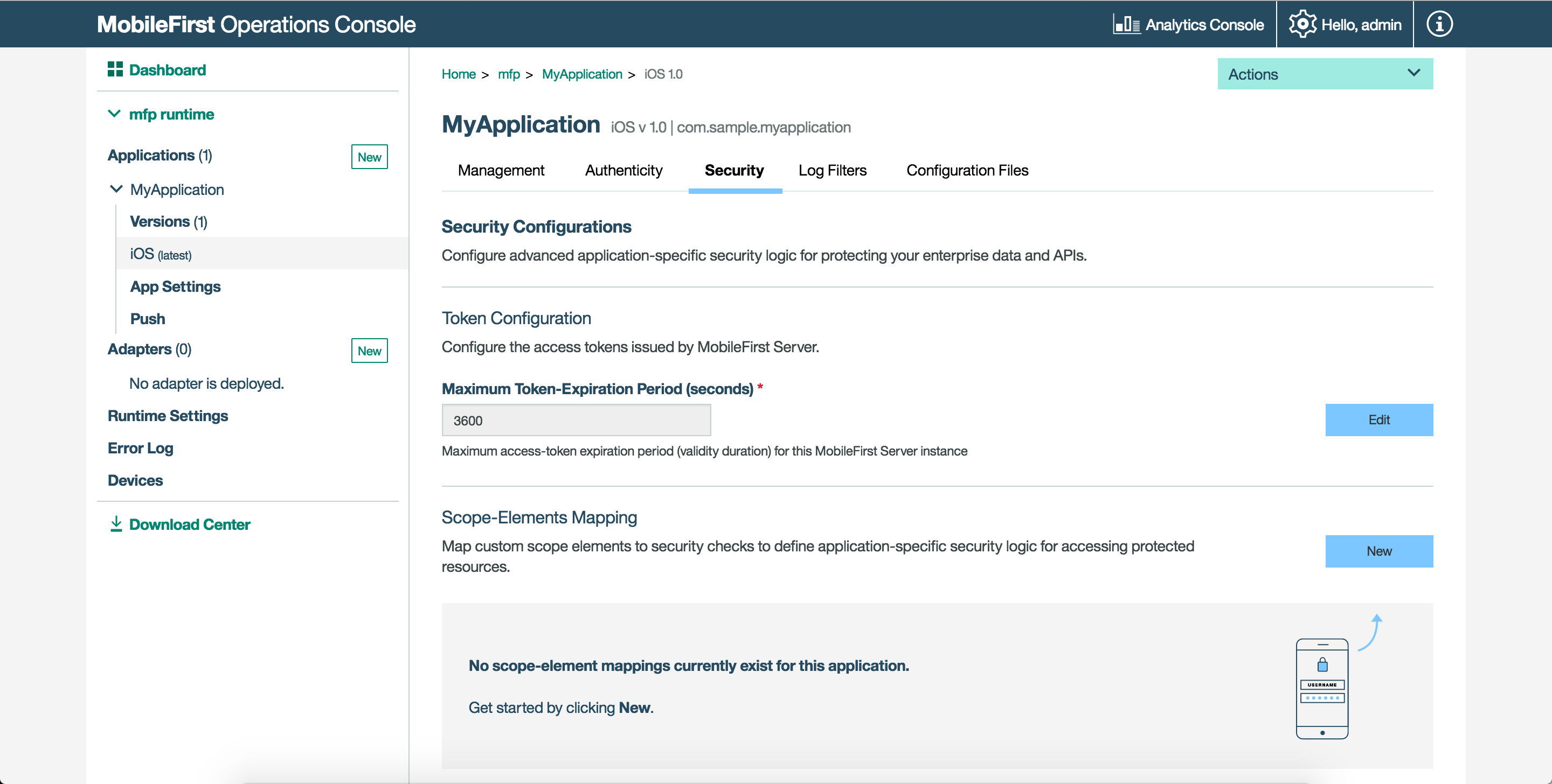 Using the MobileFirst Operations Console - IBM Mobile